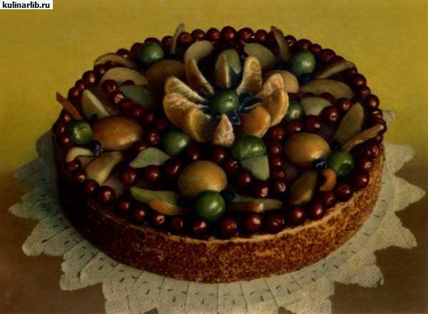 Песочные торты с фруктами рецепты